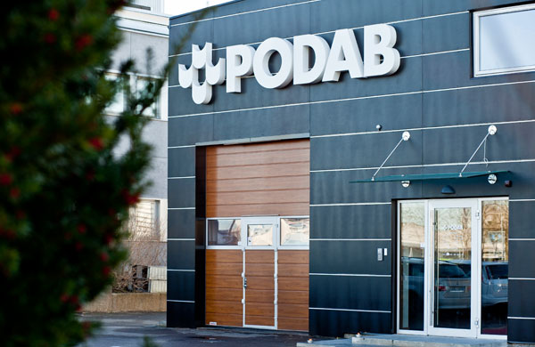 PODABs head office on Ekonomivägen 9 in Askim