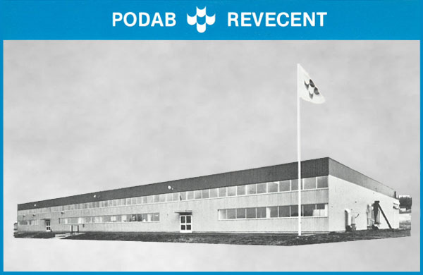PODABs factory in Bollebygd in the 70s