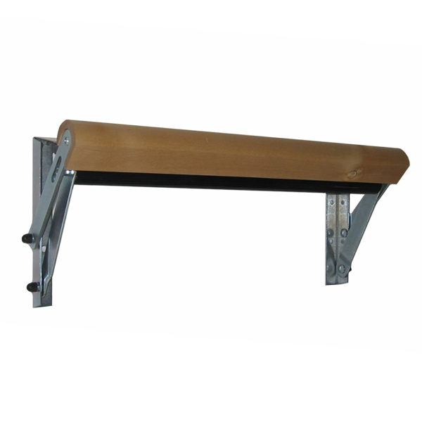 Wall-mounted sheet stretcher in wood